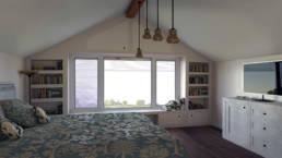 Interiorvisualisierung - Dachgeschoss Schlafzimmer