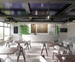 Interiorvisualisierung - Cafeteria