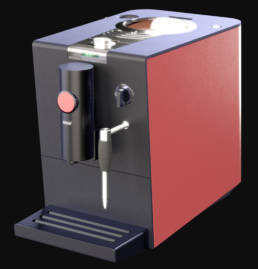 3D Product Visualisierung - Kaffeemaschine
