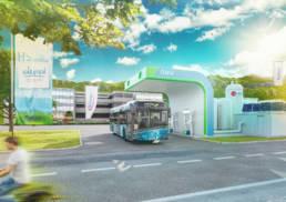 3D Visualisierung von erste Wasserstofftankstelle in Kärnten